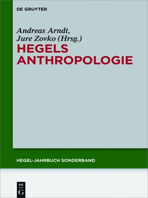 cover image of Hegels Anthropologie