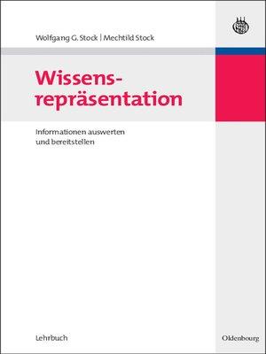 cover image of Wissensrepräsentation