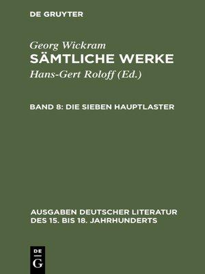 cover image of Die sieben Hauptlaster