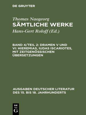 cover image of Dramen V und VI