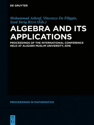 cover image of Algebra and Its Applications