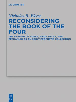 cover image of Reconsidering the Book of the Four