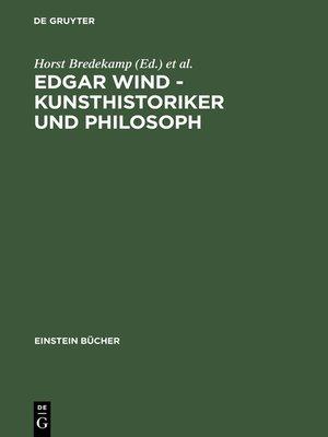 cover image of Edgar Wind--Kunsthistoriker und Philosoph