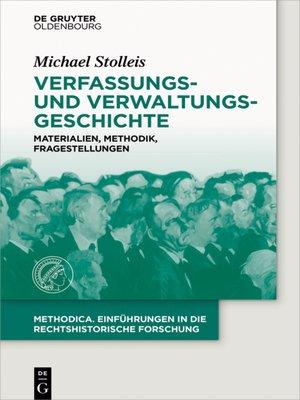 cover image of Verfassungs- und Verwaltungsgeschichte