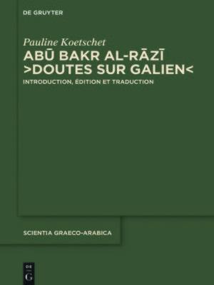"""cover image of Abū Bakr al-Rāzī, """"Doutes sur Galien"""""""