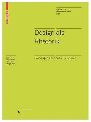 cover image of Design als Rhetorik