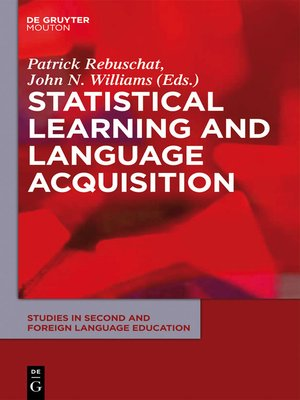 cover image of Statistical Learning and Language Acquisition
