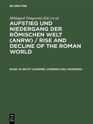 cover image of Recht (Normen, Verbreitung, Materien)