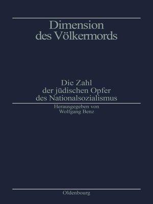 cover image of Dimension des Völkermords