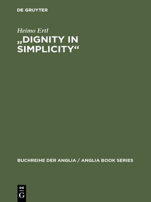 """cover image of """"Dignity in Simplicity"""""""