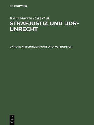 cover image of Amtsmissbrauch und Korruption