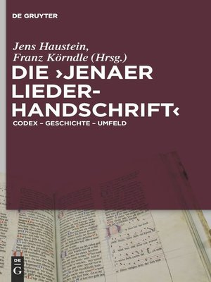 cover image of Die 'Jenaer Liederhandschrift'