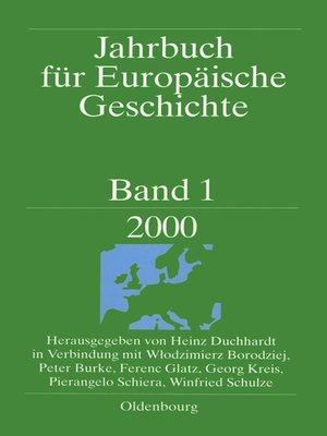 cover image of Jahrbuch für Europäische Geschichte, Band 1