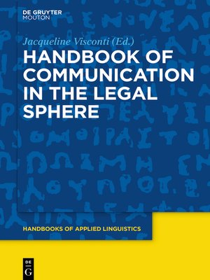 cover image of Handbook of Communication in the Legal Sphere