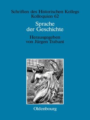 cover image of Sprache der Geschichte