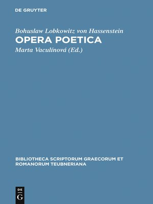 cover image of Opera poetica