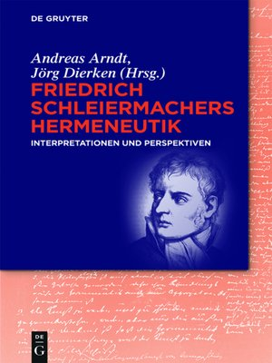 cover image of Friedrich Schleiermachers Hermeneutik