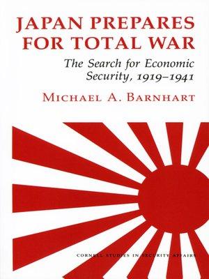 cover image of Japan Prepares for Total War