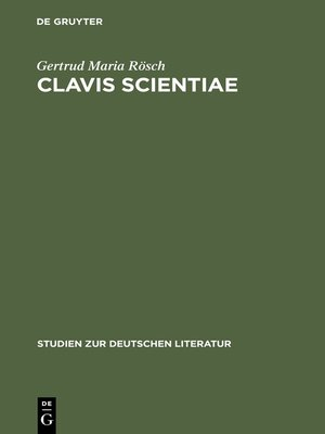 cover image of Clavis Scientiae