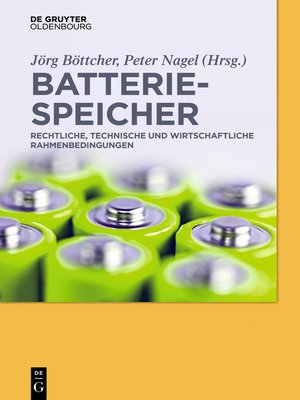cover image of Batteriespeicher