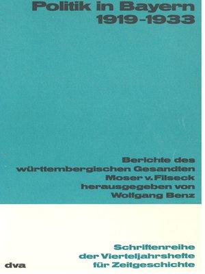 cover image of Politik in Bayern 1919-1933