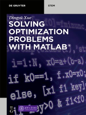 cover image of Solving Optimization Problems with MATLAB®