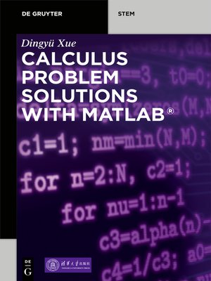 cover image of Calculus Problem Solutions with MATLAB®