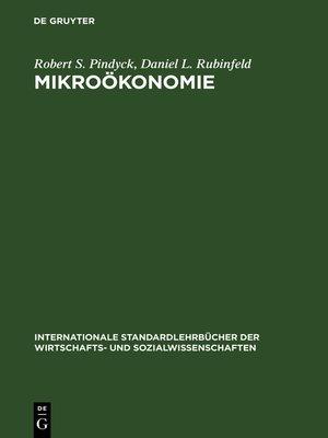 cover image of Mikroökonomie