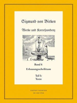 cover image of Erbauungsschrifttum