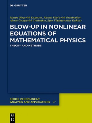 cover image of Blow-Up in Nonlinear Equations of Mathematical Physics