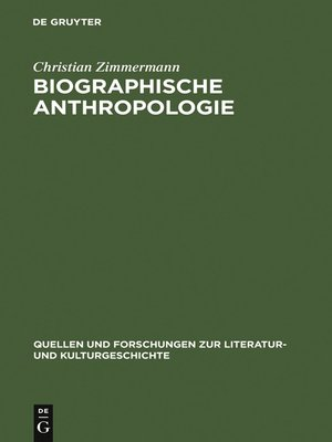 cover image of Biographische Anthropologie