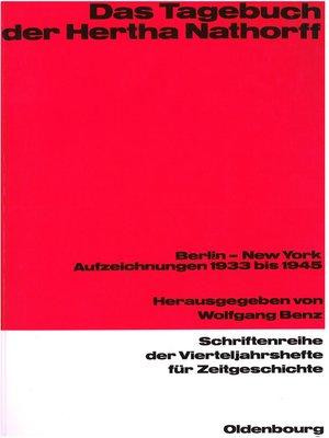 cover image of Das Tagebuch der Hertha Nathorff