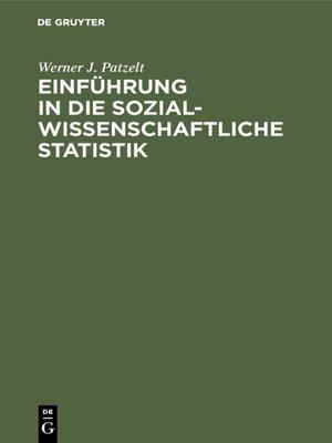 cover image of Einführung in die sozialwissenschaftliche Statistik