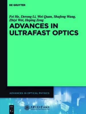 cover image of Advances in Ultrafast Optics