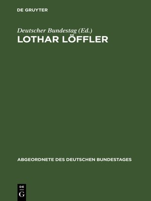cover image of Lothar Löffler