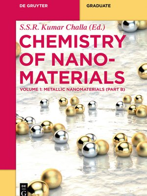 cover image of Metallic Nanomaterials (Part B)