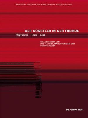 cover image of Der Künstler in der Fremde