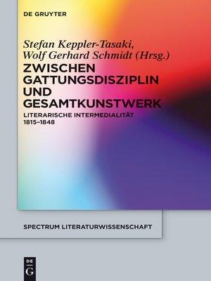 cover image of Zwischen Gattungsdisziplin und Gesamtkunstwerk