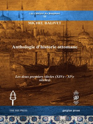 cover image of Anthologie d'historie ottomane