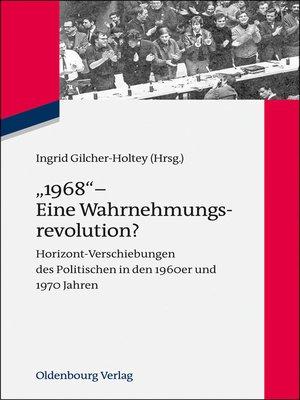 """cover image of """"1968""""--Eine Wahrnehmungsrevolution?"""