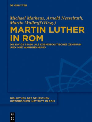 cover image of Martin Luther in Rom