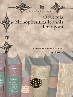 cover image of Opuscula Monophysitica Ioannis Philoponi