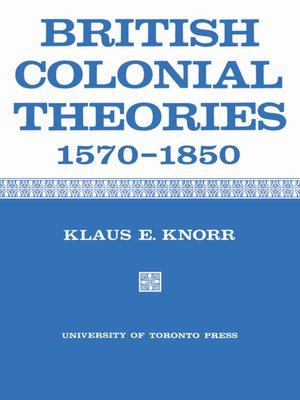cover image of British Colonial Theories 1570-1850