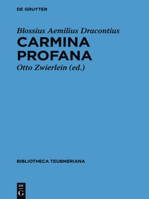 cover image of Carmina profana