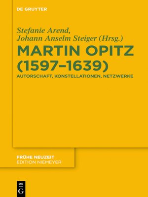 cover image of Martin Opitz (1597–1639)