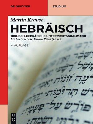 cover image of Hebräisch