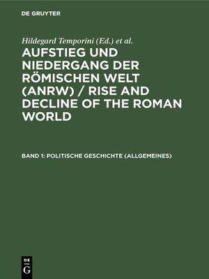 cover image of Politische Geschichte (Allgemeines)
