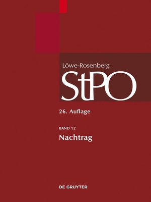 cover image of Nachtrag