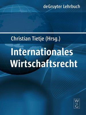 cover image of Internationales Wirtschaftsrecht
