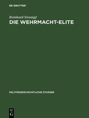 cover image of Die Wehrmacht-Elite